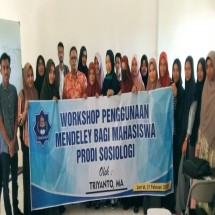 Workhsop Mendeley Awali Gelaran Seminar Mini Series Sosiologi UTU